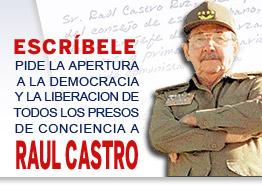 Escribe una carta a Raul Castro